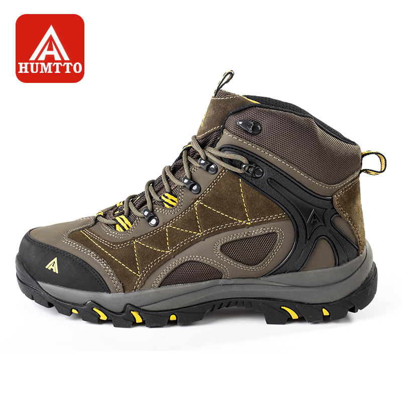 HUMTTO Hiking Shoes Men's High Cut Anti-fur Climbing Boots Winter Couple Trekking Shoe Outdoor Camping Warm Leather Sneakers hifeos men winter outdoor hiking shoes couple anti slip breathable boots mesh couple climbing mountaineer low top sneakers m067