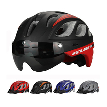 2018 New EPS Multi-functional Cycling Bicycle Helmet Goggle MTB Bike Sports Helmet Mountain Bike brim 5 Colors Goggles