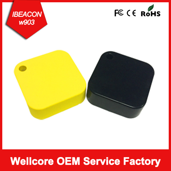 Wholesale Black Color Proximity Sensor Bluetooth Ibeacon Tag with one year life battery