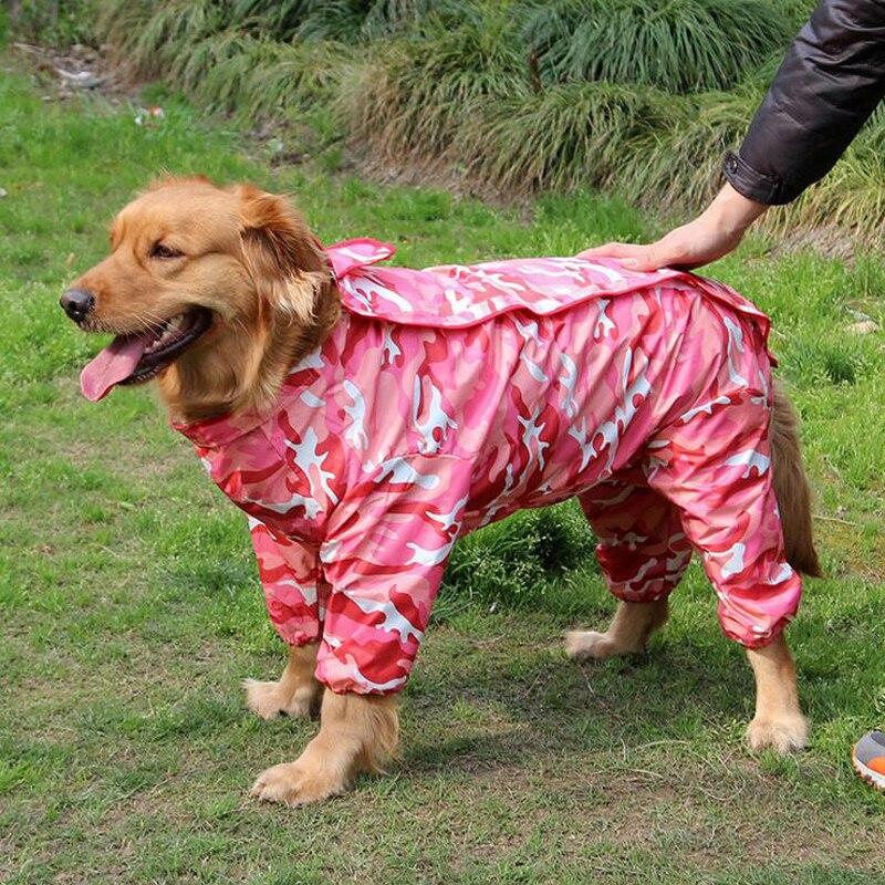 2017 Hot Sale Camouflage Pet Dog Raincoat Hoody Waterproof Rain Lovely Jackets Coats Appreal For Large Labrador German Shepherd