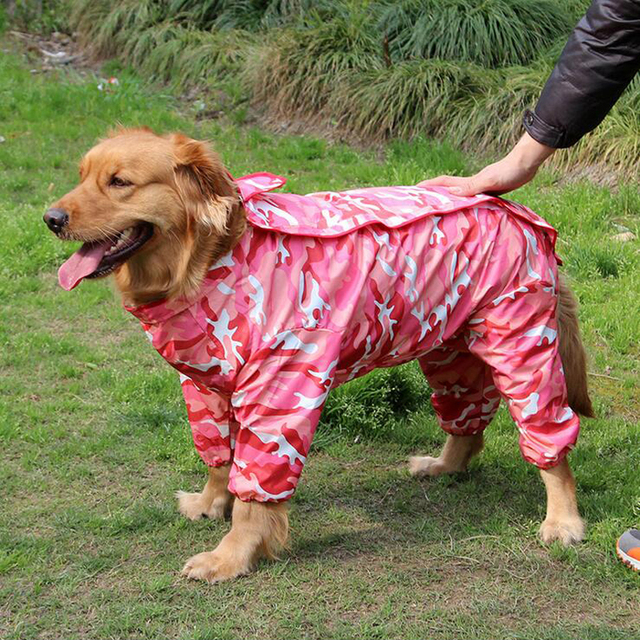 71d1ec7cd3cde 2017 Venta caliente camuflaje perro de mascota impermeable con capucha  impermeable lluvia encantadora Chaquetas Abrigos appreal