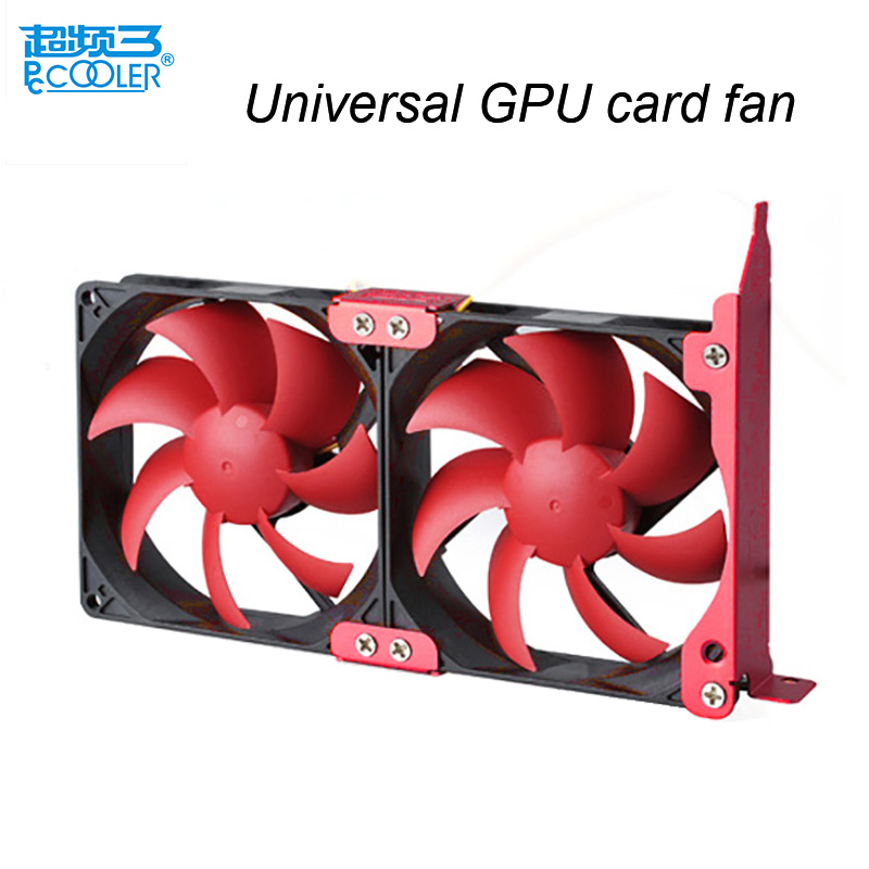 Pccooler Universal Graphics Card fans Double 8cm fans GPU/VGA cooling fan GPU/VGA cooler cooling fan partner ,Quiet and Simple 2pcs computer vga gpu cooler fans dual rx580 graphics card fan for asus dual rx580 4g 8g asic bitcoin miner video cards cooling