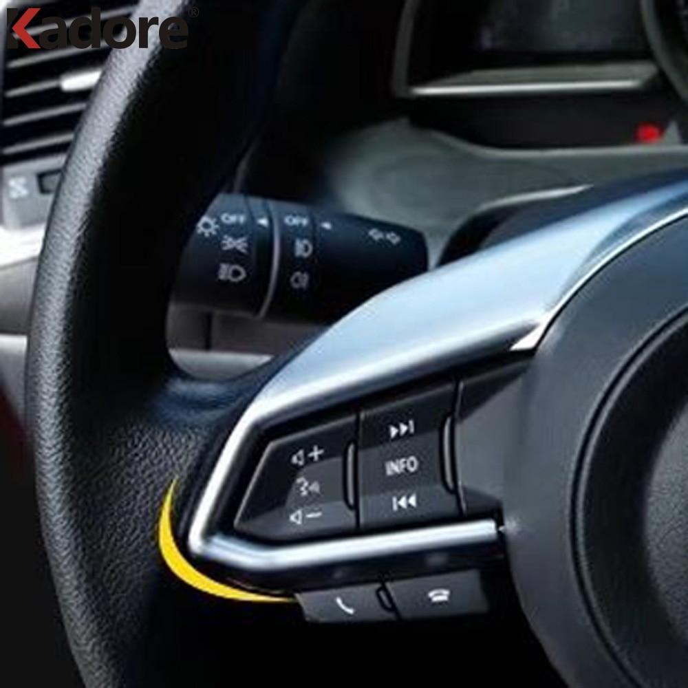 Mazda Cx 5 2017 Interior >> Accessories For Mazda CX 5 CX5 2017 2018 2019 ABS Matte Steering Wheel Trim Decorative Center ...