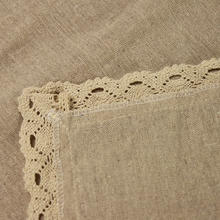 Vintage Original Color Beige Cotton Linen Table Runners for Wedding Decoration Parties Lace Table Runner Household Linen