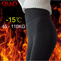 New 2017 XL- 3XL Fit 40-110kg Women Winter Thick Warm Leggings Stretch High Waist Plus Size Leggings Slim Sexy Pants 5XL 4XL