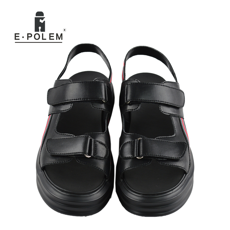 b3ea60d522e0df 2017 Fashion Designers Men Sandals Brand Leather Slippers for Men Zapatos  Sandalias Hombre Summer Beach Sandals Shoes -in Men s Sandals from Shoes on  ...