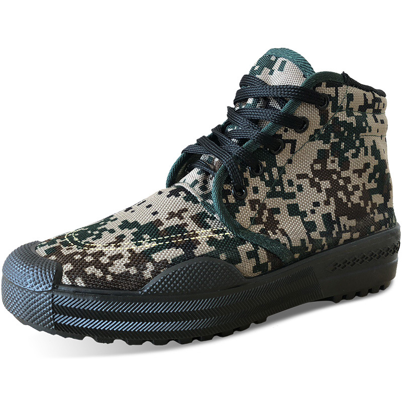 Camo Safety Shoes Military Style Antiskid Wear Resistant Men Women Jungle Training Shoes Labor Protection Field Camouflage ShoeCamo Safety Shoes Military Style Antiskid Wear Resistant Men Women Jungle Training Shoes Labor Protection Field Camouflage Shoe