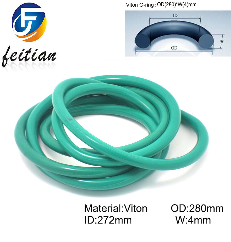 12piece Size 280mm 272mm 4mm Viton o ring seal dichtung green Gasket of motorcycle part consumer
