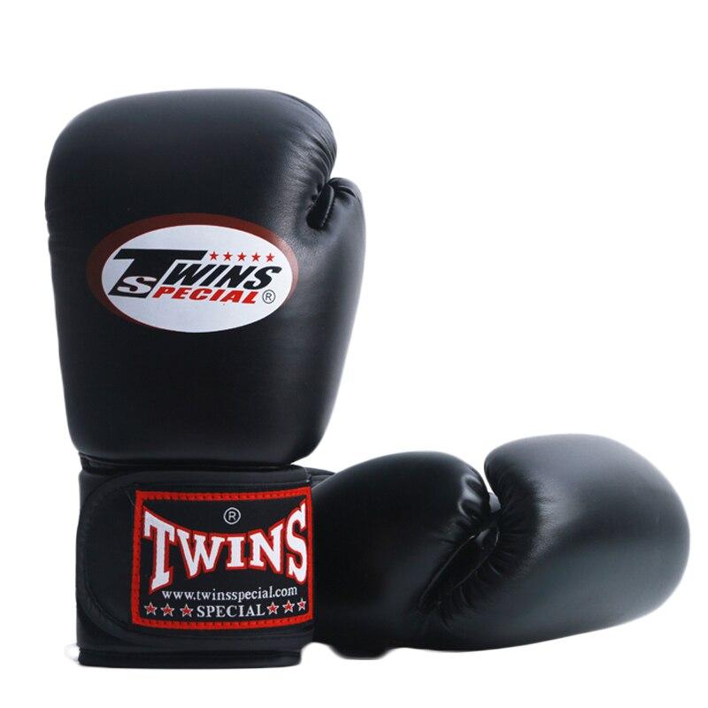 Twins 8OZ 10OZ 12OZ 14OZ Men Women Kids A Pair PU Leather Kick Boxing Gloves Karate Muay Thai MMA Boxing Gloves E