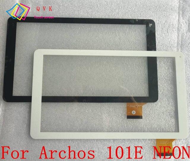 أسود أبيض 10.1 بوصة لأركوس 101E النيون لوحة شاشة باللمس للحاسوب اللوحي محول الأرقام زجاج قطعة بديلة لمستشعر مع شعار
