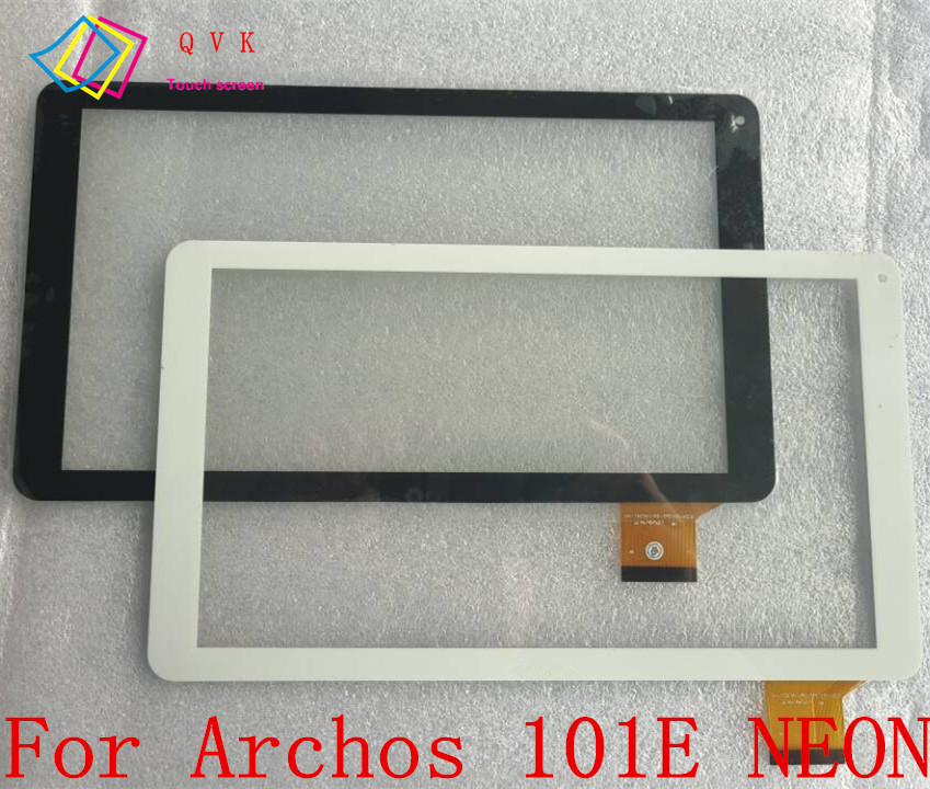 Black White 10.1 Inch for Archos 101E NEON tablet pc touch screen panel Digitizer Glass sensor replacement new white black 10 1 inch tablet qsd e c100016 02 touch screen digitizer glass touch panel replacement sensor icoo icou10gt