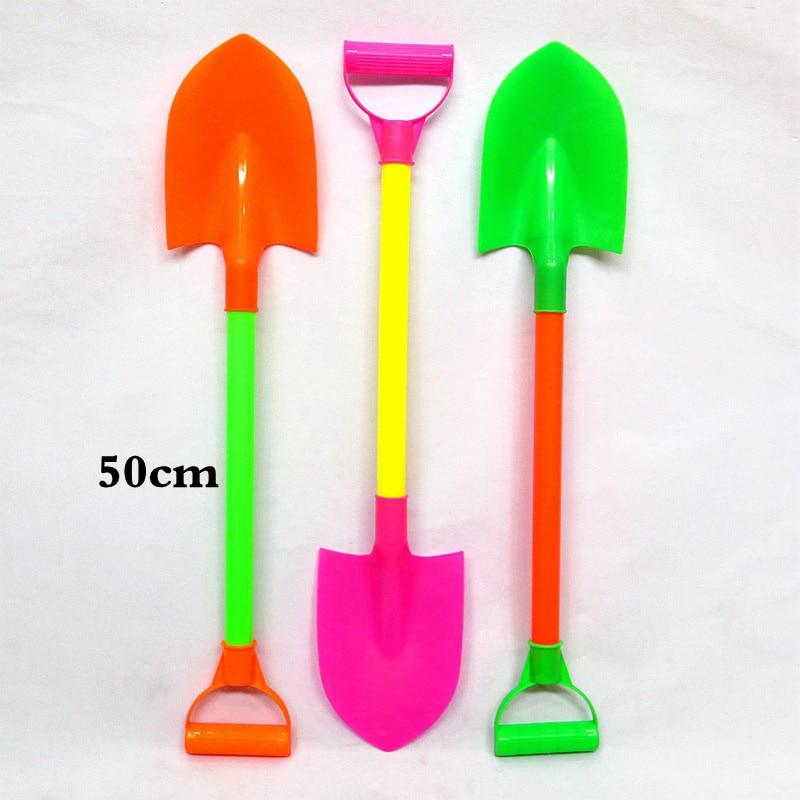 SLPF Beach Toys Color Plastic Sand Shovel Snow Shovel Large Children Kids Baby Play House Summer Hot Outdoor Games Toy Gift G19