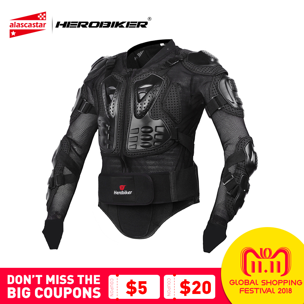 HEROBIKER Motorcycle Jacket Men Motorcycle Armor Full Body Motocross Racing Protective Gear Motorcycle Moto Protection S-XXXL herobiker armor removable neck protection guards riding skating motorcycle racing protective gear full body armor protectors