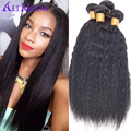 3 bundles Brazilian Coarse Kinky Straight Hair Weave Yaki Human Hair Extensions 7A Unprocessed Virgin Italian Yaki Straight Hair