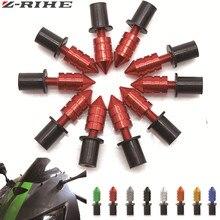 universal CNC M5 motorcycle parts swingarm spools slider Windshield Spike Bolts Screws Nuts For Suzuki GSXR 600 750 1000 K1 K2 цена в Москве и Питере