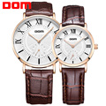 DOM lovers couple wathes  luxury brand waterproof style quartz leather watch  M-3211 G-321