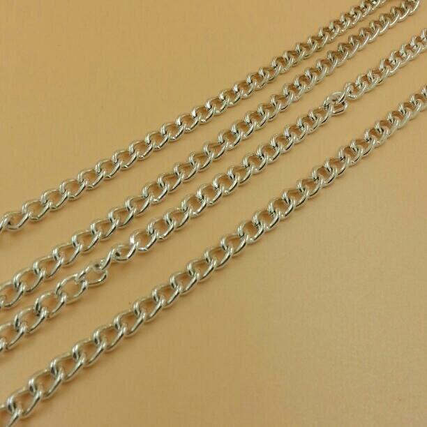 A3052 Бесплатная доставка! Пять метров/lot 8*7 мм серебряная цепь поделки и Цепочки и ожерелья Модные украшения Костюмы Интимные аксессуары