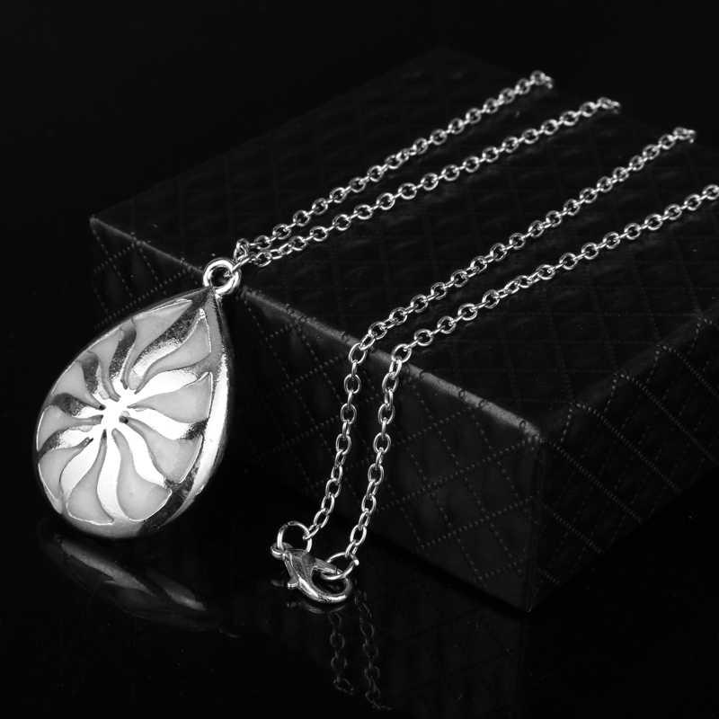 Dongsheng chose étrange colliers lumineux Fluorescence brillant dans le noir creux fleur pendentif goutte Choker cadeaux de noël-30