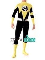 ZentaiHero Custom Made Yellow Lantern Sinestro Corps Costume Adult Spandex Superhero Costume Bodysuits Catsuit 17032902