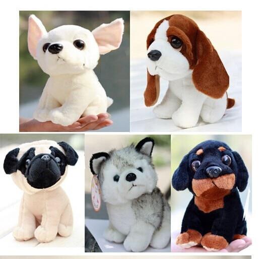 5 vienetai skirtingų šunų mažų žaislų mielas šuo lėlės stuff lėlė apie 20cm 0535