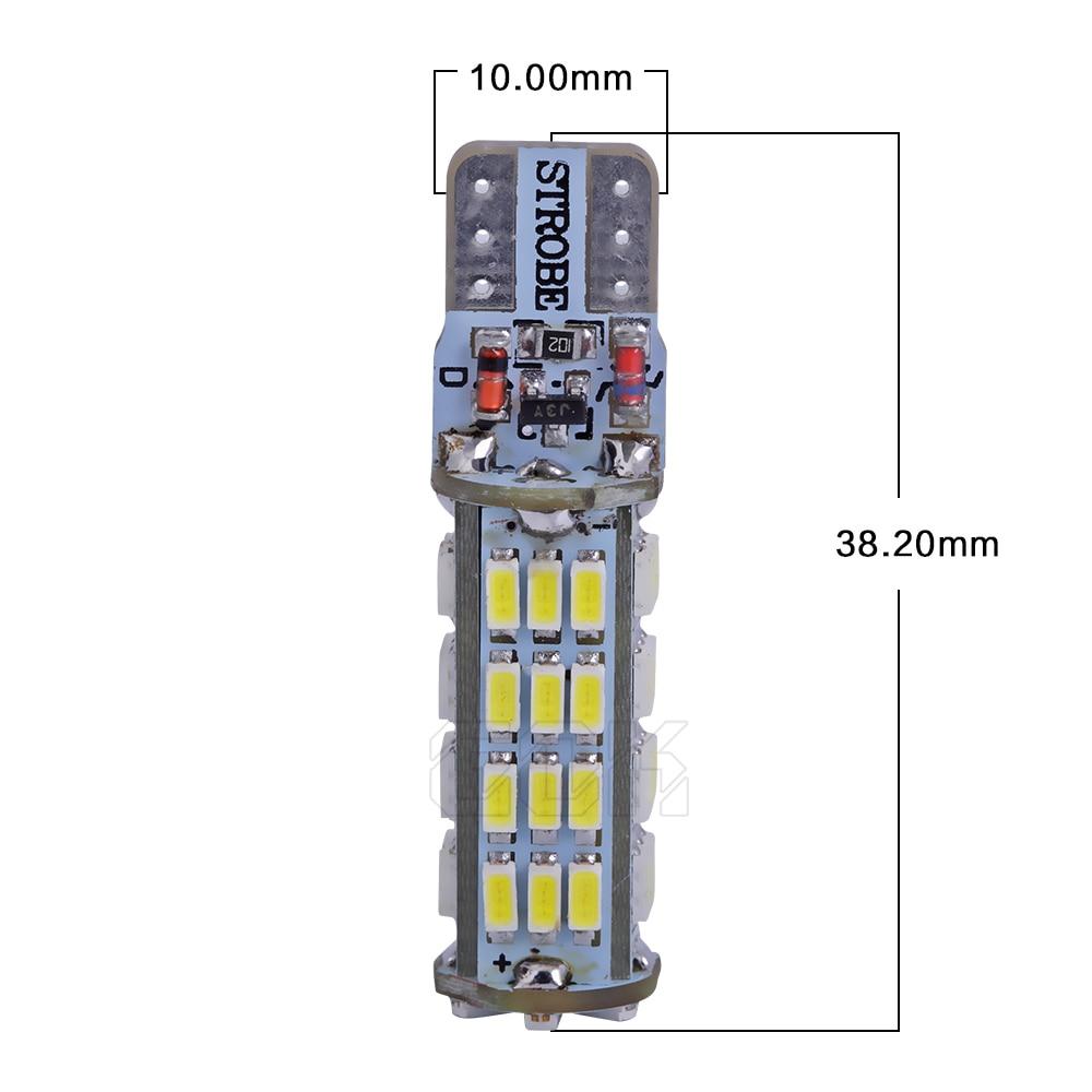 2PCS / LOT T10 led strobe բարձրորակ Strobe flash w5w LED - Ավտոմեքենայի լույսեր - Լուսանկար 4