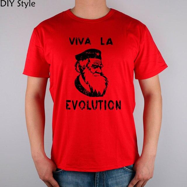 XSR PD Че Гевара берет Дарвин НАУКИ с коротким рукавом Футболки Лучших Лайкра Хлопка Мужчины футболка Новый Стиль DIY