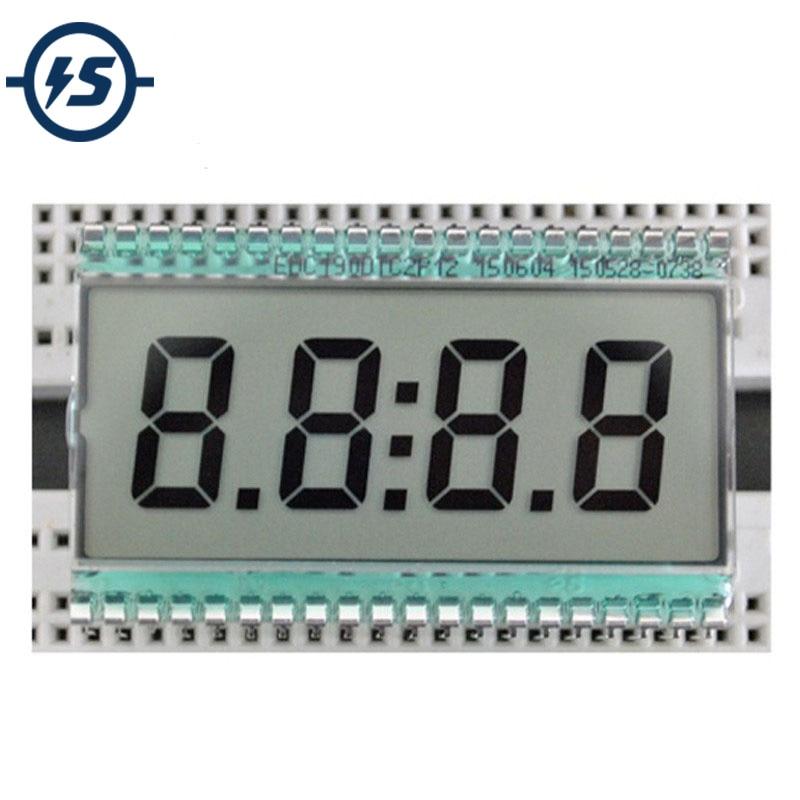 221.32руб. 12% СКИДКА|ЖК дисплей EDC190, 4 разрядный, 7 сегментный, цифровые часы, трубка, статическое управление, 3 в, 50,8x30,48x2,8 мм, полупрозрачный, TN, положительный дисплей|segment lcd display|7 segment lcd display|display digital - AliExpress