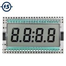 EDC190 4 Digit 7 Segment LCD Display Digital Clock Tube Static Driving 3V 50.8x30.48x2.8mm Semitransparent TN Positive Display