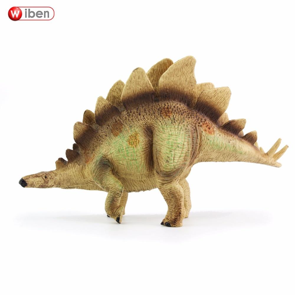 Wiben Jurassic Stegosaurus Rīcības un rotaļu figūriņas Dzīvnieku modeļa kolekcija Spilgts roku apgleznots suvenīrs Plastmasas rotaļlieta Dinozauru dāvana