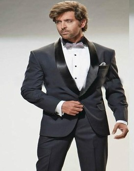 2017 New Style Groom Mens Suits Two Pieces Shawl Lapel One Button Three Pockets Morning Suits Party Clothes (jacket+pants)