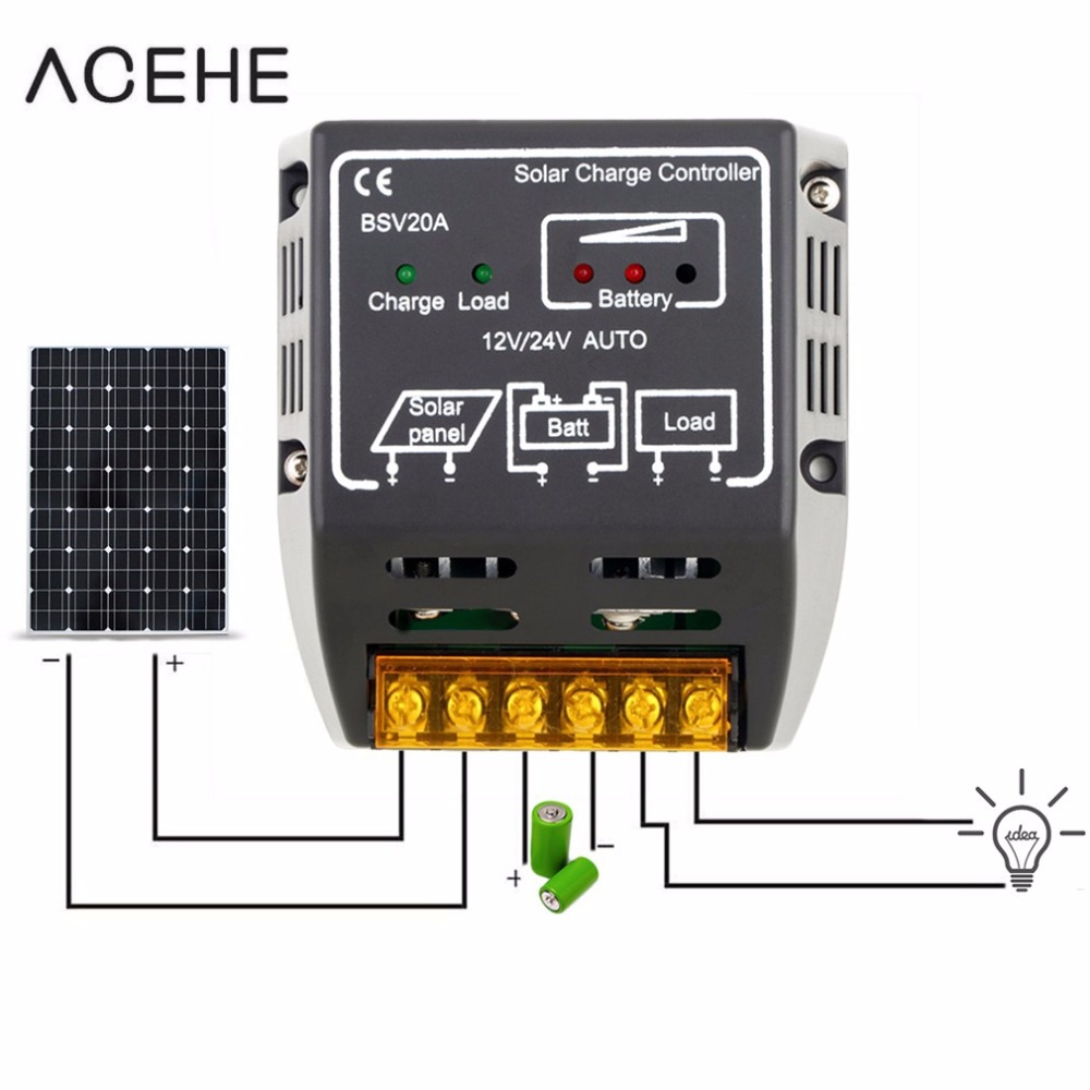 1PCS 20A 12V/24V Solar Panel Charge Controller Battery Regulator Safe Protection  Worldwide hot sales1PCS 20A 12V/24V Solar Panel Charge Controller Battery Regulator Safe Protection  Worldwide hot sales