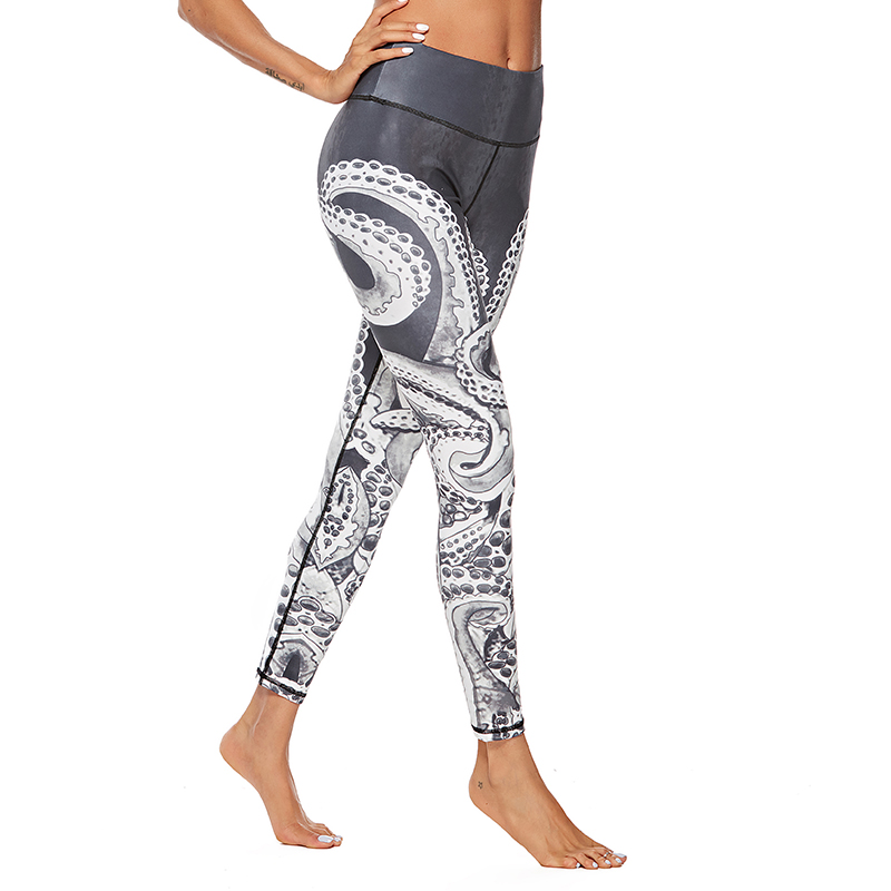 Christmas Trousers For Women Lady Casual Elasticity Skinny Leggins Mujer  High Waist Workout Printing Stretchy Pants leggings  1