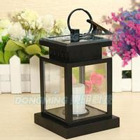 New Arrival Outdoor Solar Power Light Twinkle LED Candle Light Yard Garden Decoration Hanging Lantern Tree