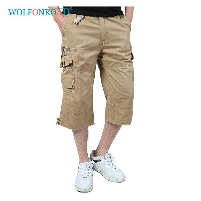 WOLFONROAD 5XL Homens Verão Shorts de Carga Multi-bolsos Calças Curtas Shorts Do Exército Tático Militar Caminhadas Camping Esporte Shorts