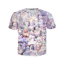 ALMOSUN Megumin Konosuba Halloween Crewneck 3D All Over Print T Shirts Hipster Summer Street Wear Tee Men Women Clothing US Size