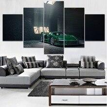 5 Piece Canvas Print Type Painting For Modern Living Room Or Bedroom Wall Decorative Vehicles Green McLaren Senna GTR Picture майка борцовка print bar mclaren
