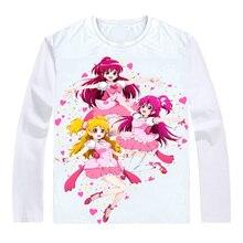 17833521fd48 Fresh Pretty Cure T-Shirts Multi-style Long Sleeve Shirts Precure Glitter  Force Eas