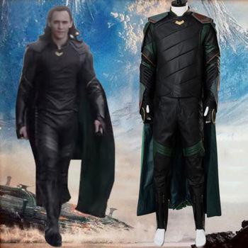 Thor 3 Ragnarok Loki Laufeyson Cosplay Costume Tom Hiddleston di Carnevale di Halloween Costumi Cosplay