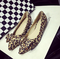 Плоские туфли леопардовые Квартиры обувь большого размера обуви квартир Женщин-6275-75B2 ЕВРО РАЗМЕР 35-41