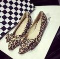 Zapatos planos del leopardo de Los Planos de gran tamaño zapatos de Las Mujeres pisos-6275-75B2 EURO TAMAÑO 35-41