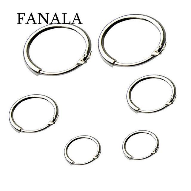 7a0680593 3 Pairs Women Hoops Earrings New Round Small Sleeper Hoop Earrings for  Women Fashion Jewelry Earring 8mm 10mm 12mm