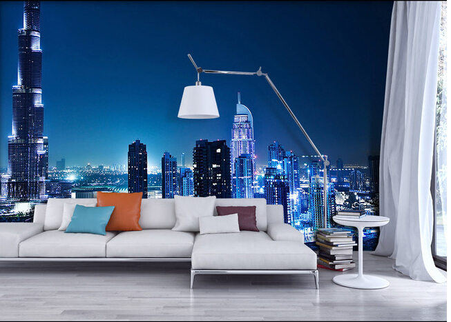 Custom Wallpaper Photo The Dubai City Of Night Landscape For Living Room Bedroom TV Background Wall Papel De Parede In Wallpapers From Home