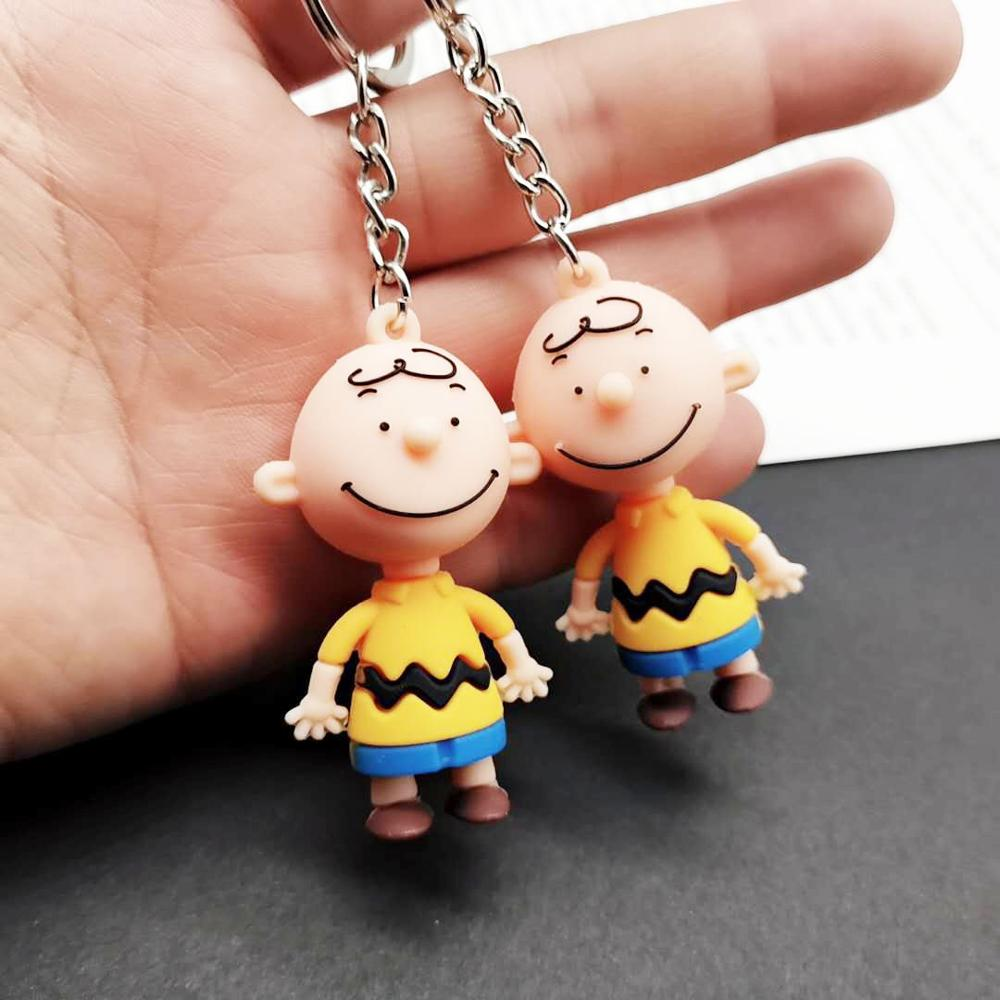 Charlie Brown Cartoon Peanuts Dolls Desktable/Key Bag Accessories Naughty Figure Toys for Boys Creative Funny Korea Ins Dolls image