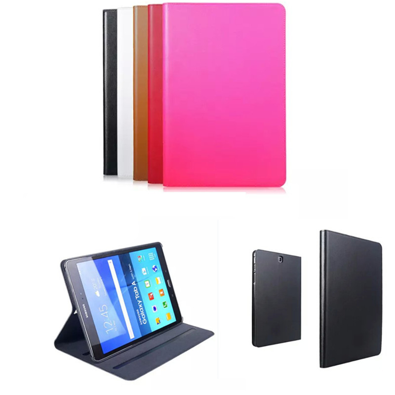 цена на Tab A 8.0'' Flip Genuine Leather+Plastic Shell Book Cover Case For Samsung Galaxy tab A 8.0 inch T350 T351 T355 With Stand