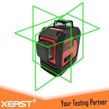 Профессиональный xeast лазерный уровень 360 12 зеленая линия 3D зеленый лазерный уровень самовыравнивающийся крест линия 3D лазерный уровень зеленый луч