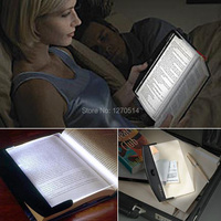 LED Book Lights Magic Night Vision Light LED Reading Book Flat Plate Portable Car Travel Panel