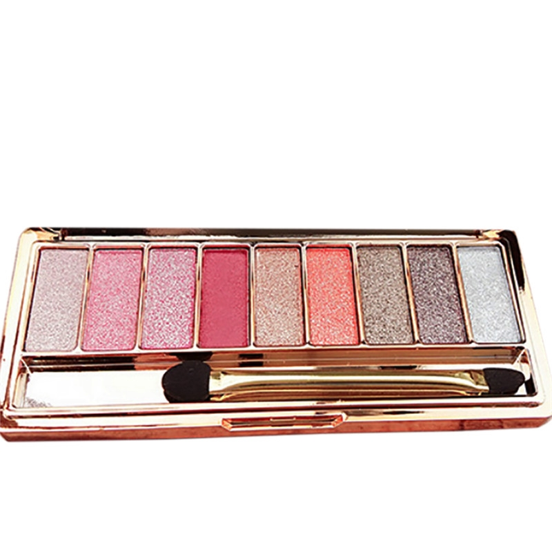 9 Colors Eyeshadow Palette Beauty Makeup Diamond Bright Shining Colorful Shadow Flash Glitter Make Up Set With Brush