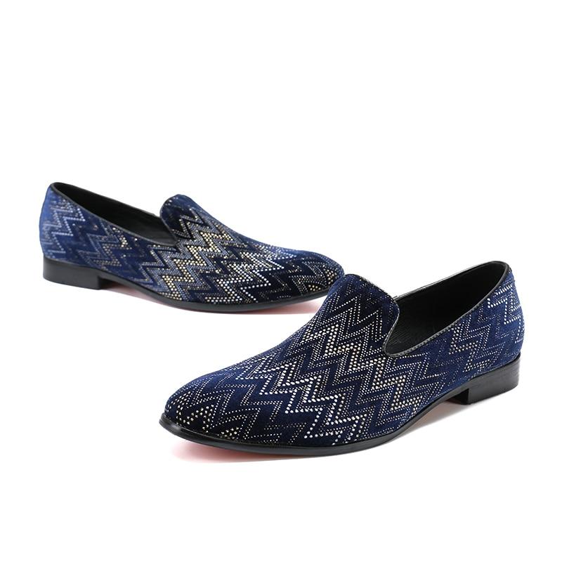 Slip En Noir Quotidienne Sur 46 Cuir Loisirs Fshion Printemps Pointu Toe Mocassins Casual Été Chaussures 37 2 Bleu 1 Taille Nouveaux Hommes Homme lF5Ku1JcT3
