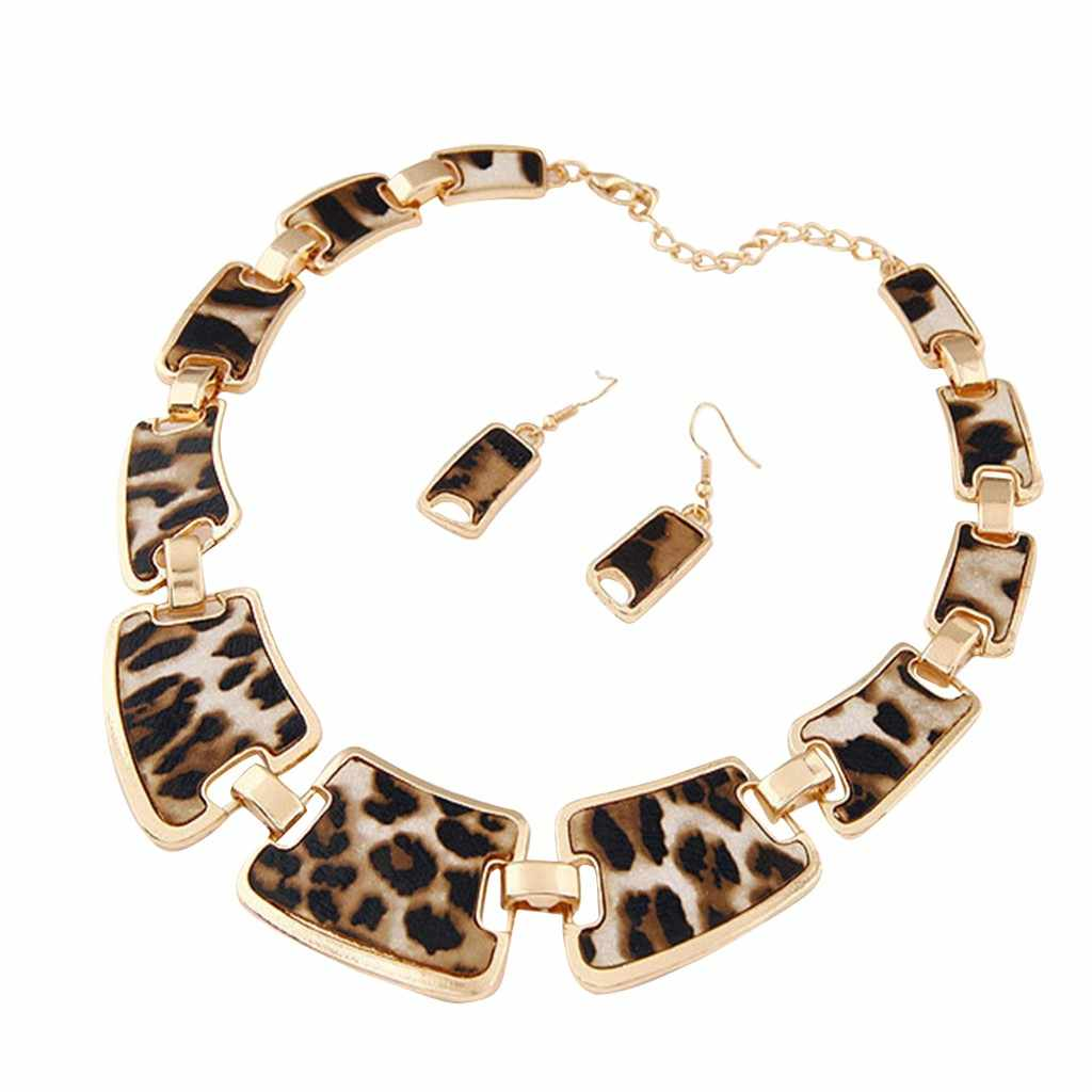 Fashion Gold Tone Style Leopard Grain Necklace Collar Bib for Women Fashion Jewelry For Women free shipping dropshipping