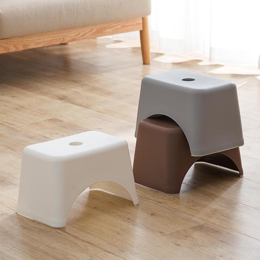 OTHERHOUSE 1Pc Thicken Plastic Stools Living Room Non-slip Bath Bench Children Stool Changing Shoes Stool Kids Furnitur Pouf